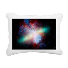 Cigar galaxy (M82), comp Rectangular Canvas Pillow