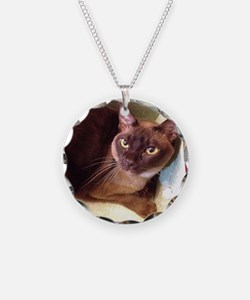 Champagne Burmese Box Cat Necklace