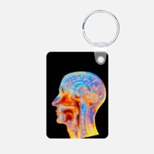 Coloured MRI scan of the h Keychains