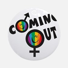 Coming Out GLBT Round Ornament