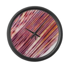 Collagen fibres Large Wall Clock