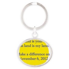 Make A Difference Oval Keychain