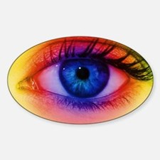 Colour vision: spectrum of light an Sticker (Oval)