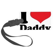 I Heart Daddy Luggage Tag