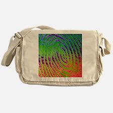 Coloured SEM of details of a human f Messenger Bag