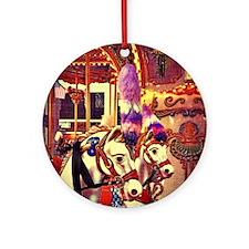 Carousel Horses Round Ornament