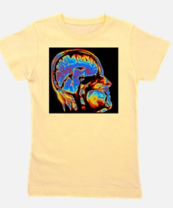 Coloured CT scan of the brain in head ( Girl's Tee