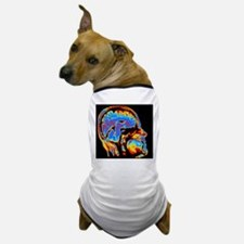 Coloured CT scan of the brain in head  Dog T-Shirt