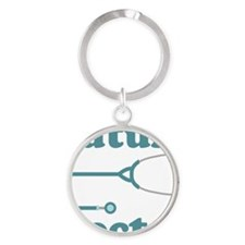 Future Doctor With Stethoscope Round Keychain
