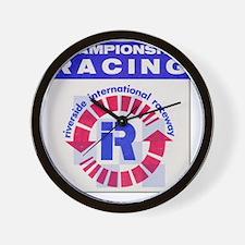 Riverside Raceway Wall Clock