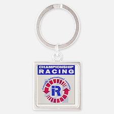Riverside Raceway Square Keychain