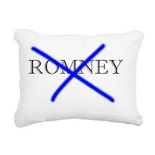 Anti-Romney Rectangular Canvas Pillow