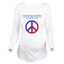 Peace In DC Long Sleeve Maternity T-Shirt