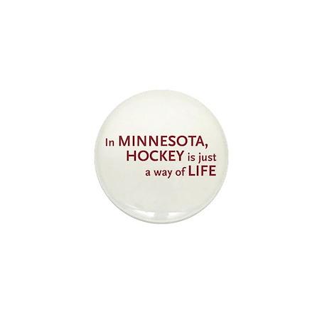 Minnesota Hockey Mini Button