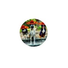 Three Amigo Dogs Mini Button