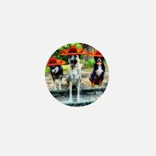 Three Amigo Dogs Mini Button