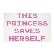 This Princess Saves Herself 3'x5' Area Rug