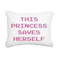 This Princess Saves Hers Rectangular Canvas Pillow