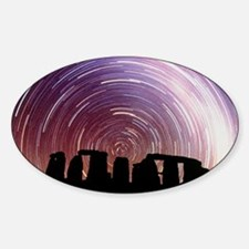 Composite image of star trails over Decal
