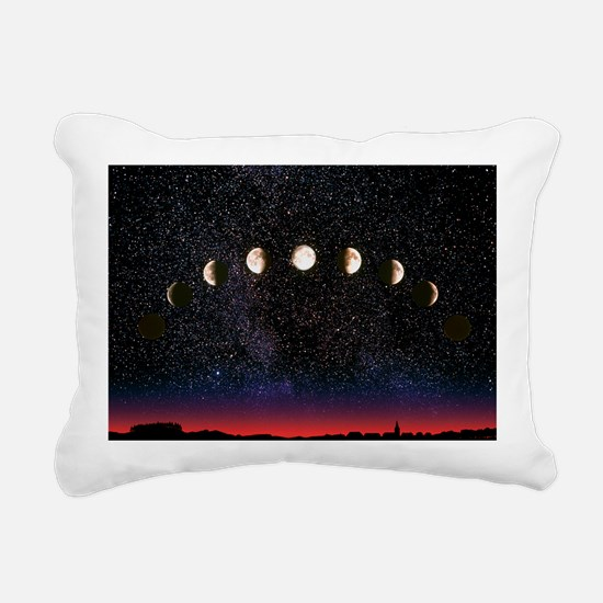 Composite time-lapse ima Rectangular Canvas Pillow