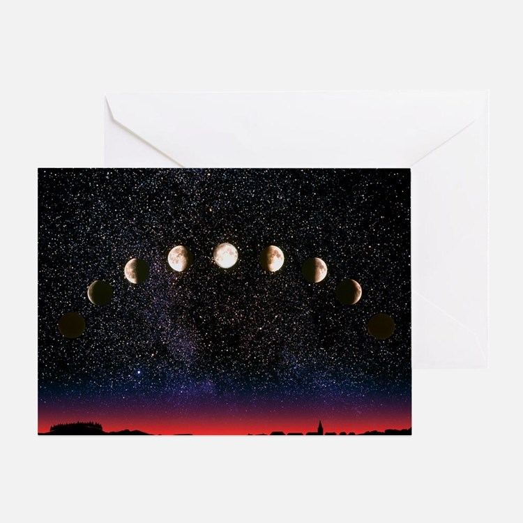 Composite time-lapse image of the lu Greeting Card