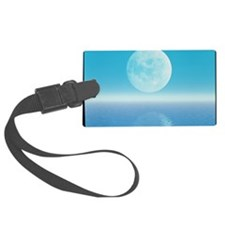 Computer art of Moon over water  Luggage Tag