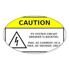 Solar PV Circuit Breaker Warning Decal