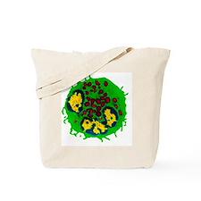Coloured TEM of a basophil white blood ce Tote Bag
