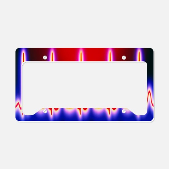 Computer artwork of healthy E License Plate Holder