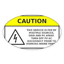 Solar PV System Main Panel Warning Decal