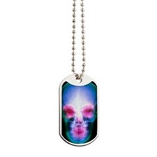 Coloured X-ray of the human skull Dog Tags