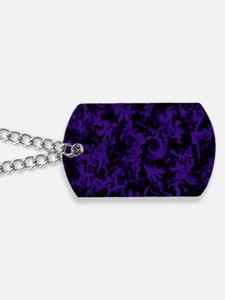 Dark Purple Dog Tags