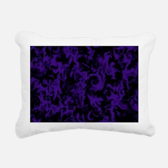 Dark Purple Rectangular Canvas Pillow