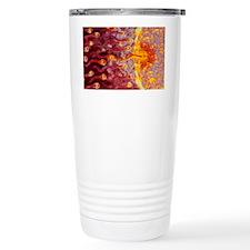 Computer art of sperm and egg d Travel Mug