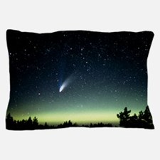 Comet Hale-Bopp and aurora borealis, 3 Pillow Case