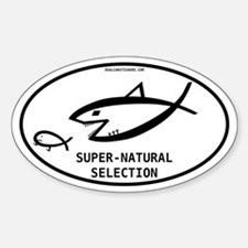 Super-natural Selection Oval Decal