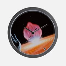 Comet Shoemaker-Levy striking Jupiter Wall Clock