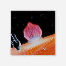 "Comet Shoemaker-Levy striki Square Sticker 3"" x 3"""