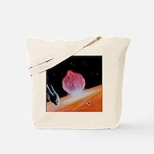 Comet Shoemaker-Levy striking Jupiter Tote Bag