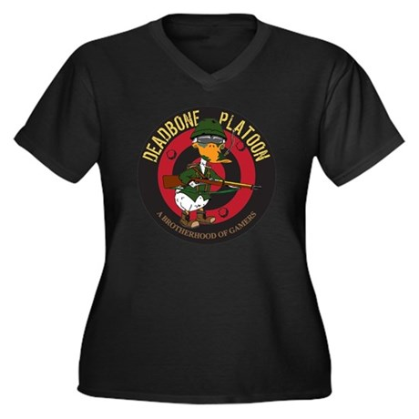 DBP Duck Women's Plus Size Dark V-Neck T-Shirt