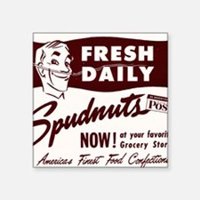 "SPUDNUTS Fresh Daily Square Sticker 3"" x 3"""