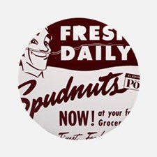 SPUDNUTS Fresh Daily Round Ornament