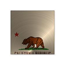 """Gold California Republic Square Sticker 3"""" x 3"""""""