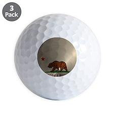 Gold California Republic Golf Ball