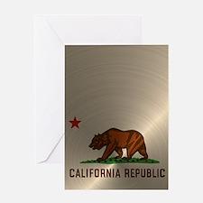 Gold California Republic Greeting Card