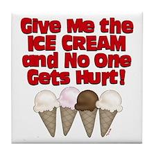 Give me Ice Cream Tile Coaster