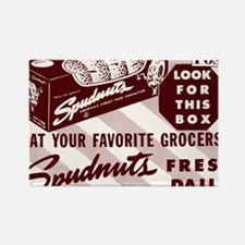 SPUDNUT Look For This Box Rectangle Magnet