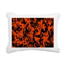Pumpkin Orange Rectangular Canvas Pillow