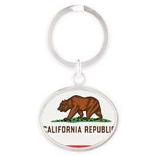 California Republic Oval Keychain