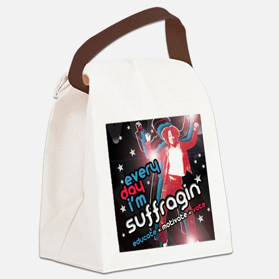 Every Day Im Suffragin Canvas Lunch Bag